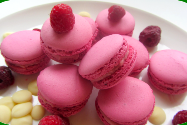 Recette Macarons ganache montée chocolat blanc/framboise