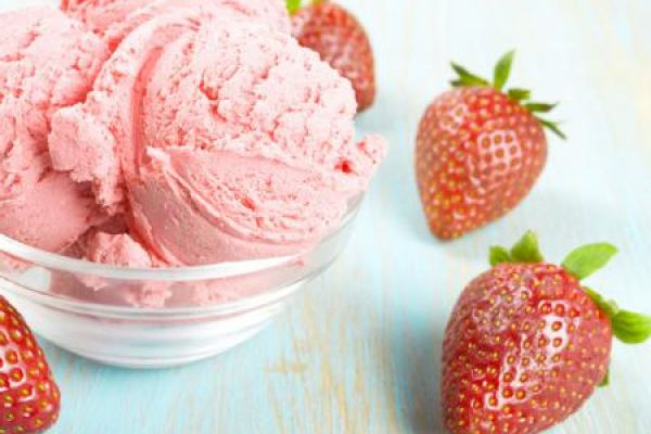 Recette Crème glacée à la fraise