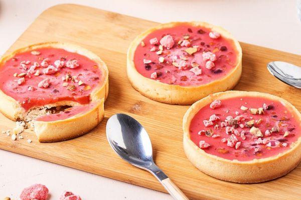 Recette Tartelettes à la praline rose