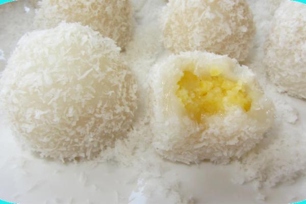 Recette Daifuku mochis à la noix de coco ou ''perles coco''