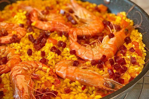 Recette Paella aux crevettes de Cyril Lignac
