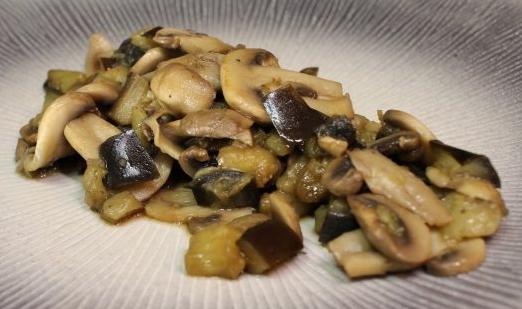 Recette Aubergines aux champignons