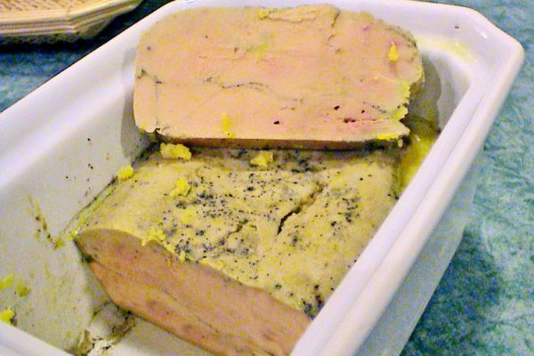 Terrine de foie gras au porto, cognac et épices