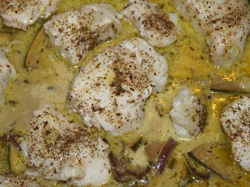 Recette poisson au curry, gingembre et lait de coco