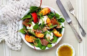 Recette Salade de pêches rôties à la mozzarella