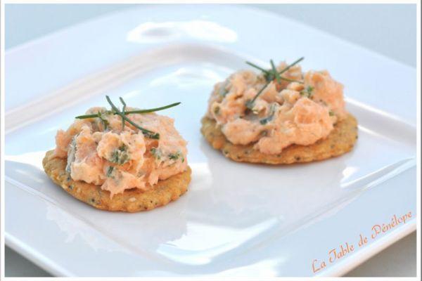 Recette toast aux rillettes de saumon