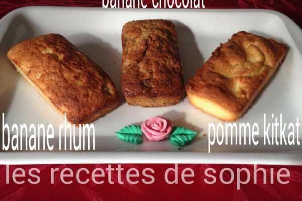 Recette Cake banane chocolat