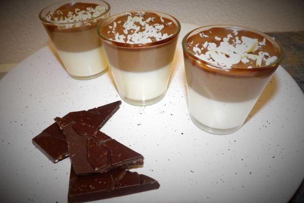 Recette Panna Cotta aux Trois Chocolats