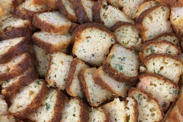 Mini cake au saumon fumé