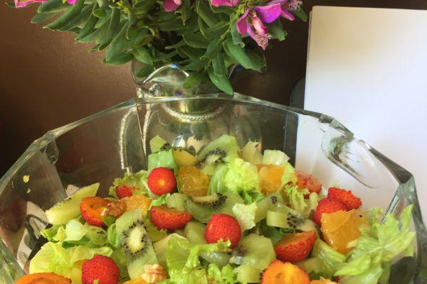 Recette Salade kiwi/oranges & arbousier