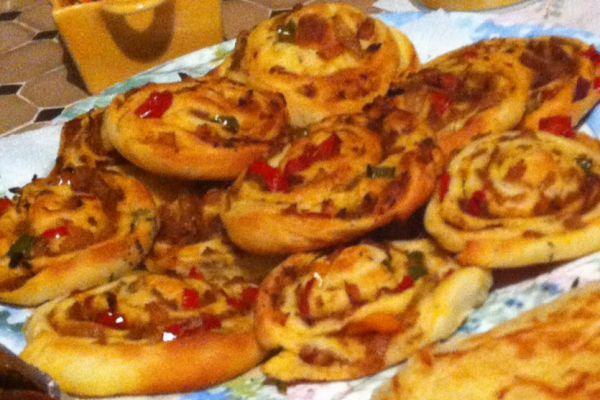 Recette Petits pains roulés au thon & poivrons