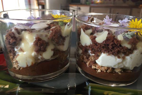 Recette verrines chocolat noix chantilly improvisées