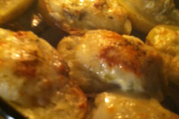 Recette Pommes de terre farcies au four
