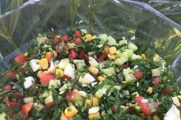 Salade composee au persil plat