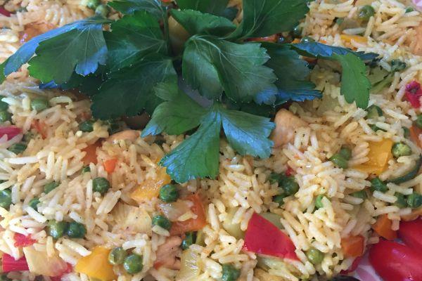 Recette Couronne de riz, légumes-poulet