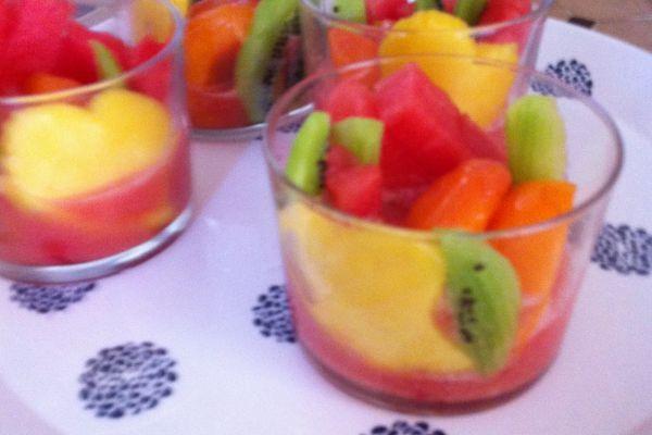 Recette Verrines de fruits panachés