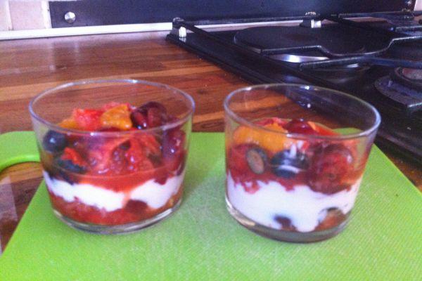 Recette Verrines aux fruits rouges