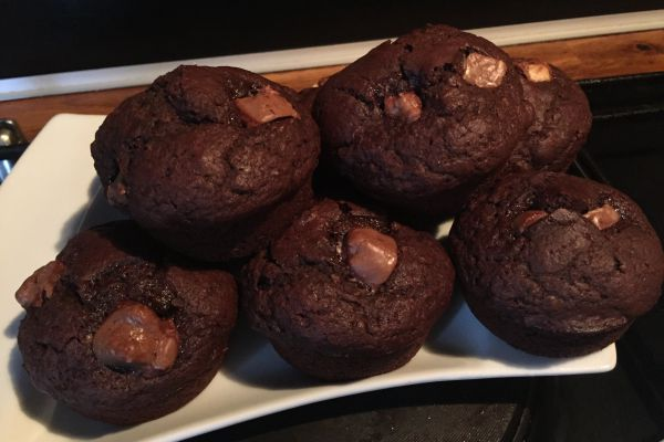 Recette muffin's chocolat noir_ chocolat praliné