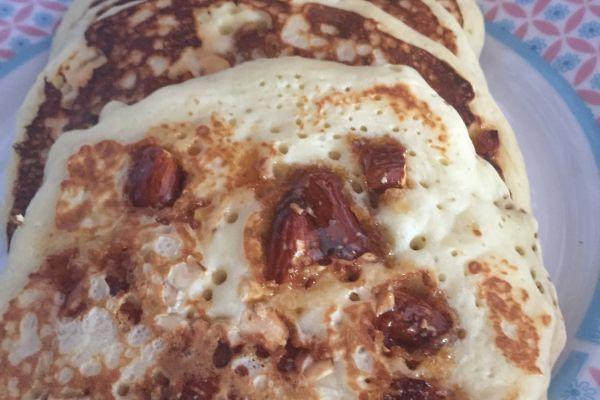 Recette Pancakes aux amandes caramélisées