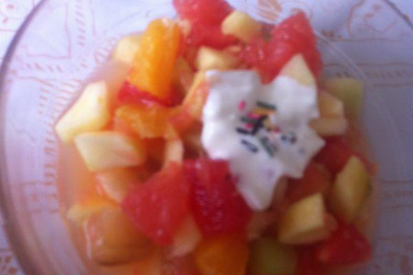 Recette Salade de fruits vitaminée