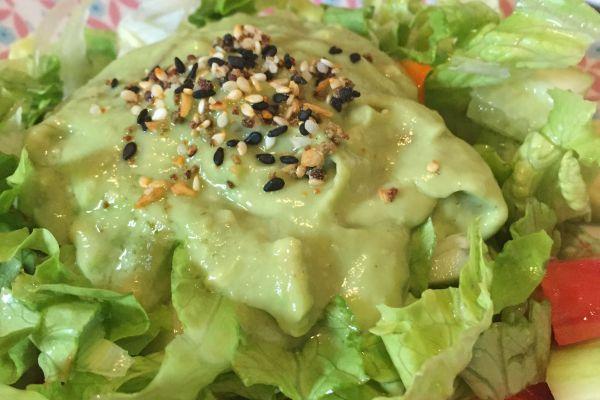 Recette Salade variée à la crème d'avocat