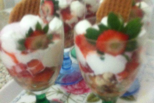 Recette Délice de fraises-litchis saveur framboise