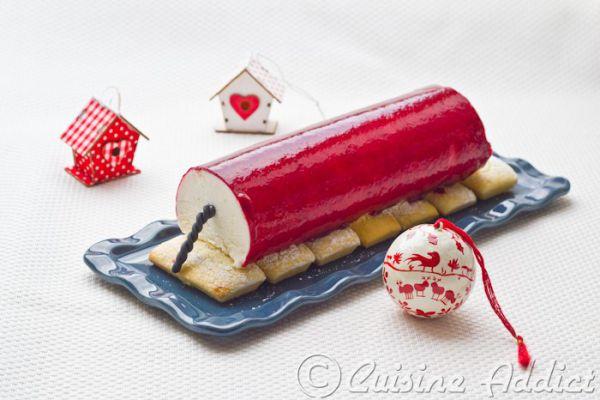 ❅ Bûche de Noël aux Fruits Rouges et à la Vanille