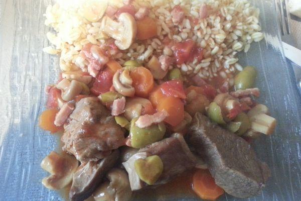 Recette Sauté de veau aux olives COOKEO