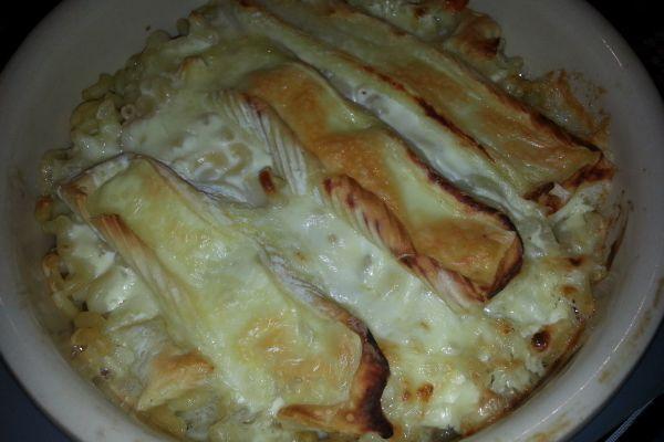 Gratin de pâtes au jambon blanc et reblochon