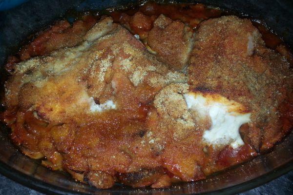 Recette Roussette sauce tomate cuite au four