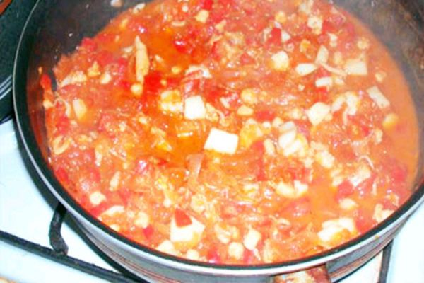 Recette Poulpe à la tomate / Pwedja an matimati