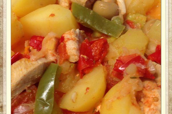 Recette Filet de poulet aux pommes de terre, poivron, tomates au Cookeo