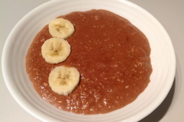 Recette Porridge à la banane et au chocolat