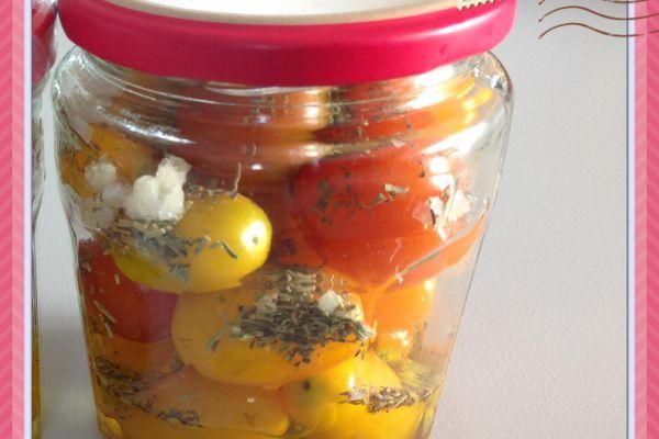 Recette Tomates cerises en bocaux