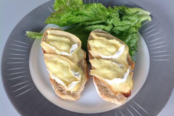 Recette Tartines pomme et camembert