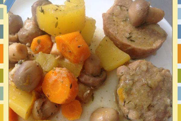 Recette Filet mignon pommes de terre et carottes au Cookeo