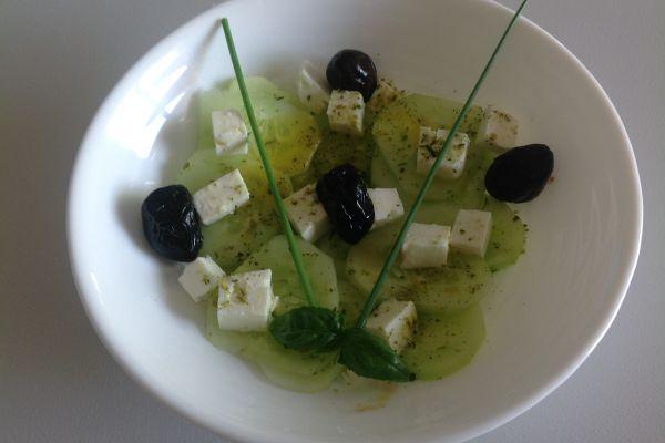 Recette Salade de concombre, olives et feta