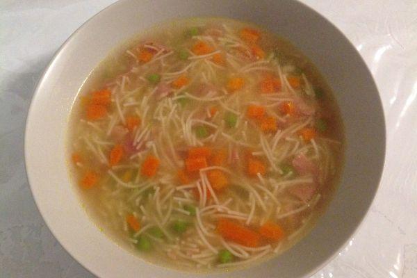 Recette Bouillon de légumes et vermicelles