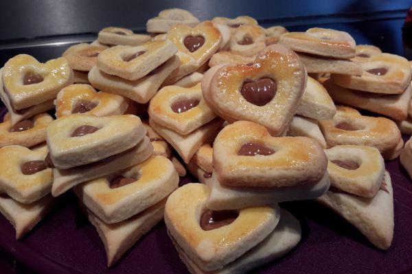 Recette Coeur au pralin , biscuits de Noël