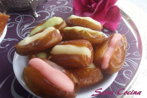 Recette Dattes fourrées à la pâte d'amande