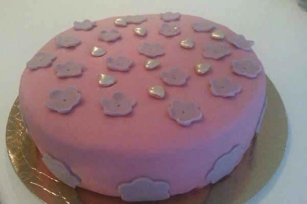 Recette Gâteau en pâte à sucre