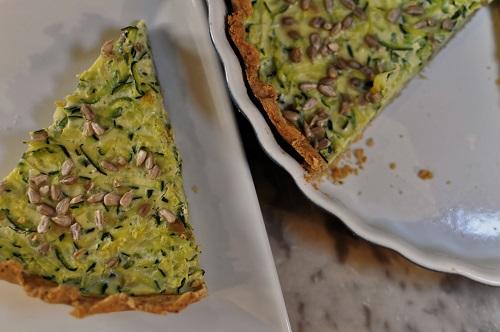 Recette Tarte à la Courgette Rapée, Olives Vertes et Citron