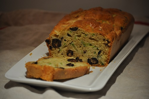 Recette Cake Olives & Courgettes
