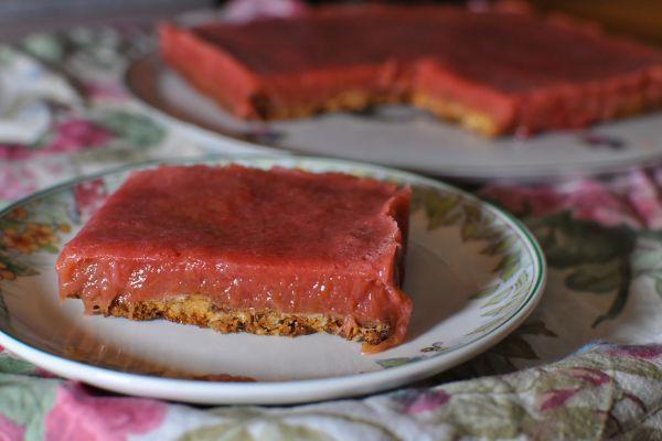 Gâteau Rhubarbe Framboise