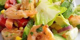 salade fraicheur aux avocats et aux crevettes