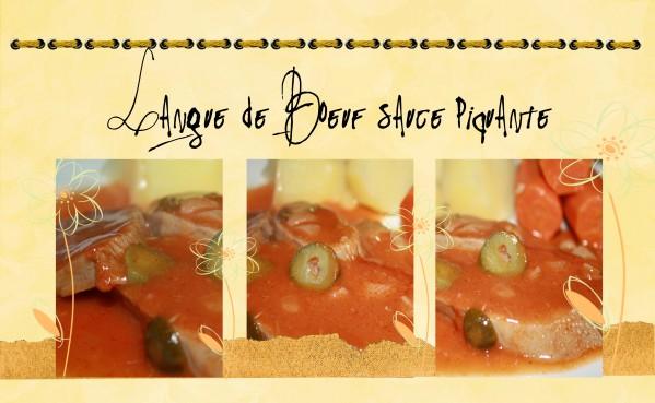 Recette LANGUE DE BOEUF SAUCE tomate cornichons