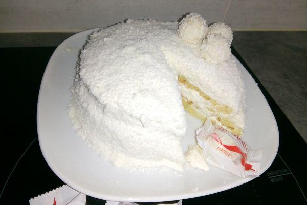 Recette Gâteau noix de coco façon RAFFAELLO