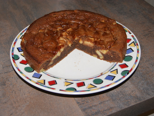 Recette gâteau a la pomme et au nutella