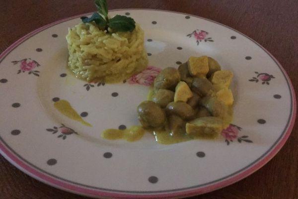 Poulet au coco et curry